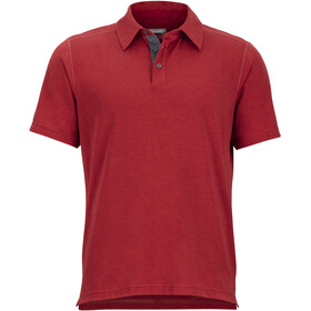 Marmot Wallace SS Polo Shirt Men Auburn Heather